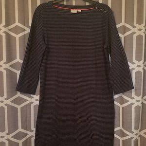 Kenar three quarter sleeve striped dress
